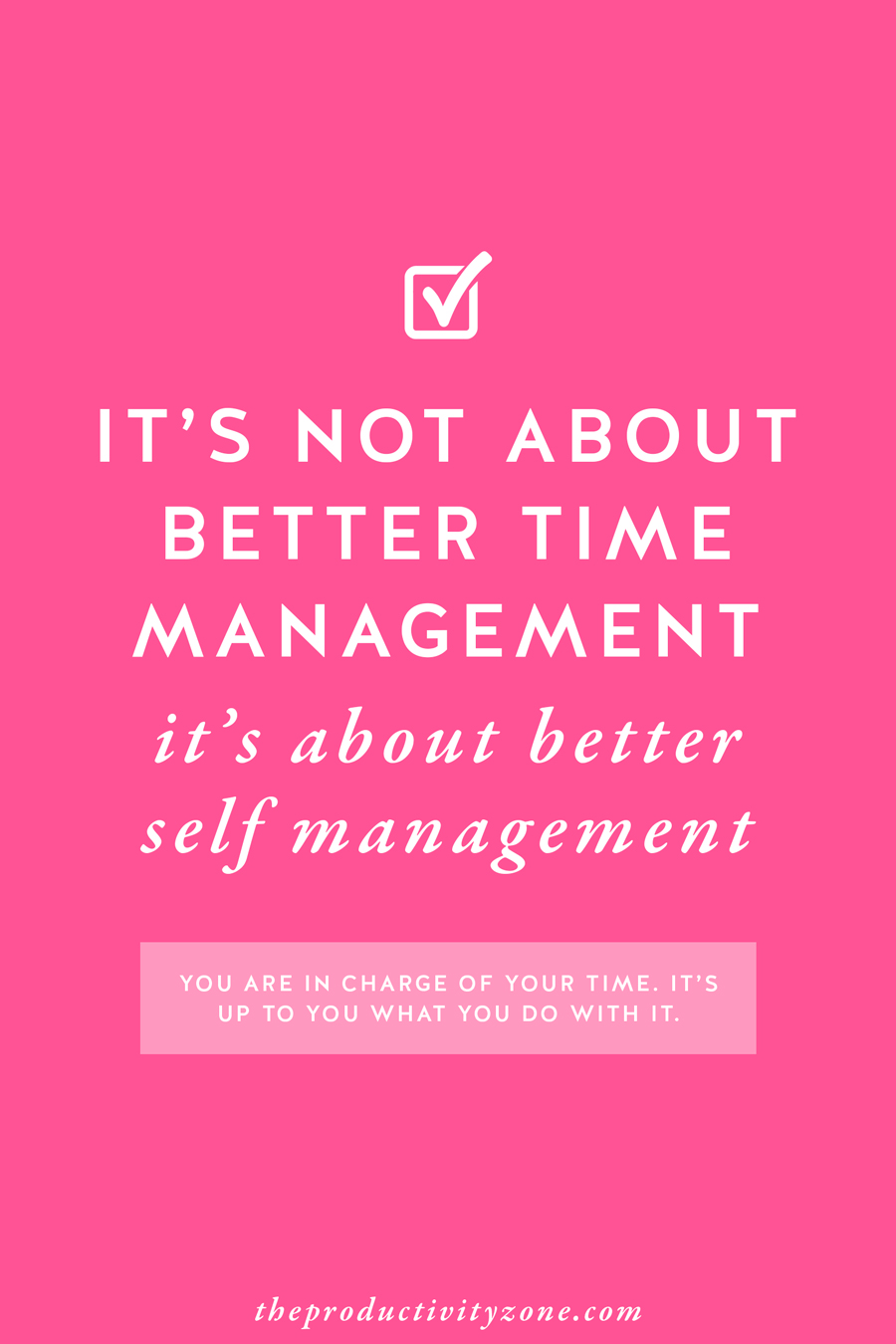 How do we focus and stay productive in the hours we're given each day? Hint: It's not just about better time management, it's about better self-management!! I'm sharing 5 proven tips to better both on The Productivity Zone!!