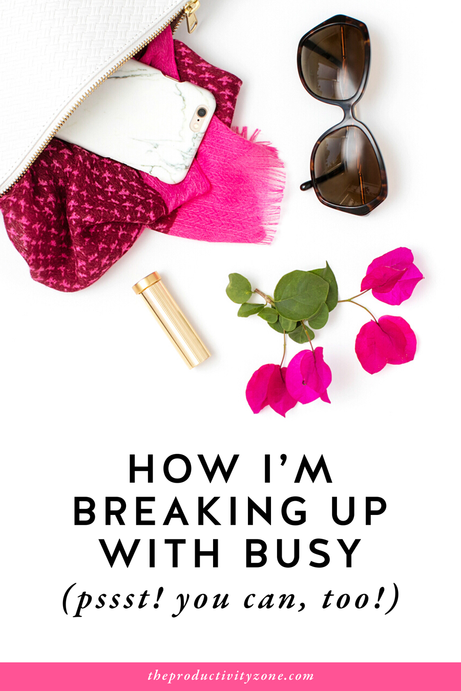 "I don't want to mistake being busy for being successful anymore and you shouldn't either!! I'm sharing the subtle yet life-changing difference between ""busy"" and ""productive"" and an inside look at how I'm breaking up with busy FOR GOOD on the Productivity Zone!!"