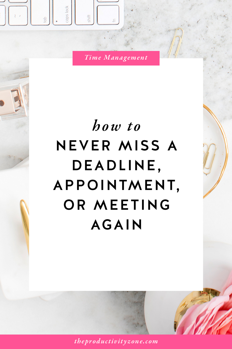 Learn the most important step people often skip and my secret pre-planning system so you never miss a deadline, appointment, or meeting again on The Productivity Zone!!
