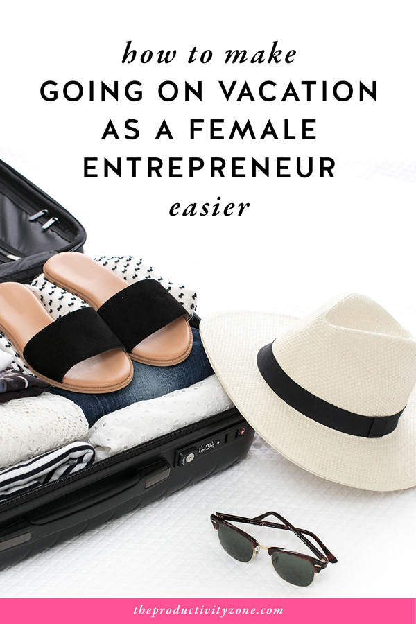 When you plan ahead, prepare well, and have really good systems in place, going on vacation as a female entrepreneur is easy!! My best tips including the 4 systems you MUST HAVE in place are on The Productivity Zone!!