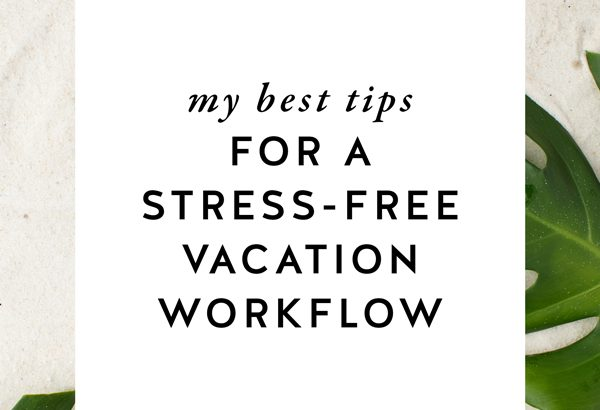 If you're anything like me (a female entrepreneur who is also a solopreneur), you know there are still a few things you have to do while you're on vacation. But you don't want to spend all of your time with your laptop, riiiiight?! That's where a stress-free vacation workflow comes in!! My best tips for how to get things done and still enjoy your vacation are on The Productivity Zone!!