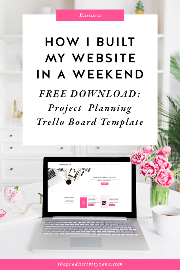 It is completely possible to build your website in a weekend!! But first you must, dream, plan, and prepare!! On The Productivity Zone, I'm walking you through the EXACT planning and preparation process that allowed me to sit down and build out MY ENTIRE WEBSITE in just ONE WEEKEND!! Including all of the tools that made it possible and the Trello board that helped keep me focused and sane, plus helped me keep track of all the things!!