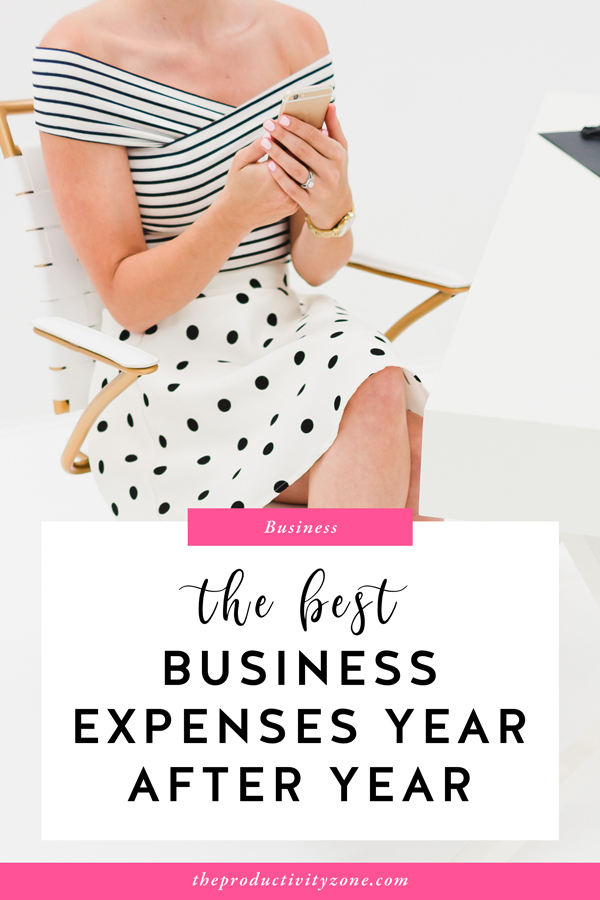 The best business expenses give back to you and your business long after you've swiped your card and printed your receipt. Over on The Productivity Zone, I'm sharing the best business expenses year after year so you can be a happier and more successful business owner (and help you avoid some of the mistakes I originally made)!!