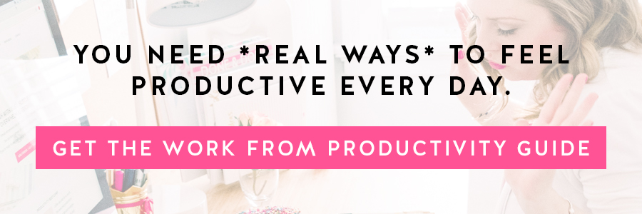 Coffee can only do so much. You need REAL WAYS to feel productive every day. Get the Work From Home Productivity Guide today!!