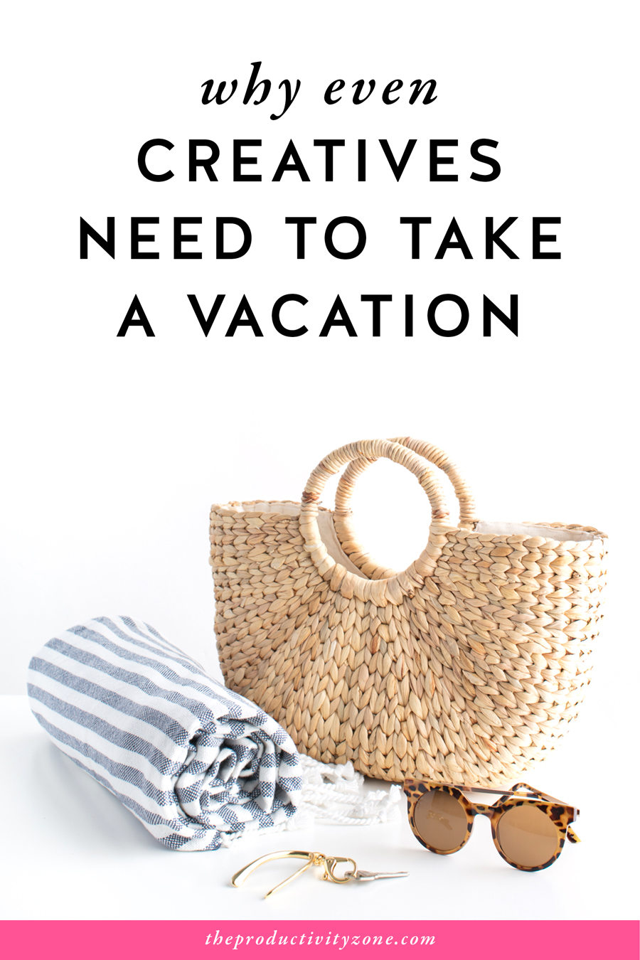 Yes, it's true. Even creatives need to take a vacation. Why? Because all work and no play makes for a burnt out business owner!! Check out all the reasons why taking a vacation is not just a NEED TO but a MUST DO for creative female entrepreneurs on The Productivity Zone!!