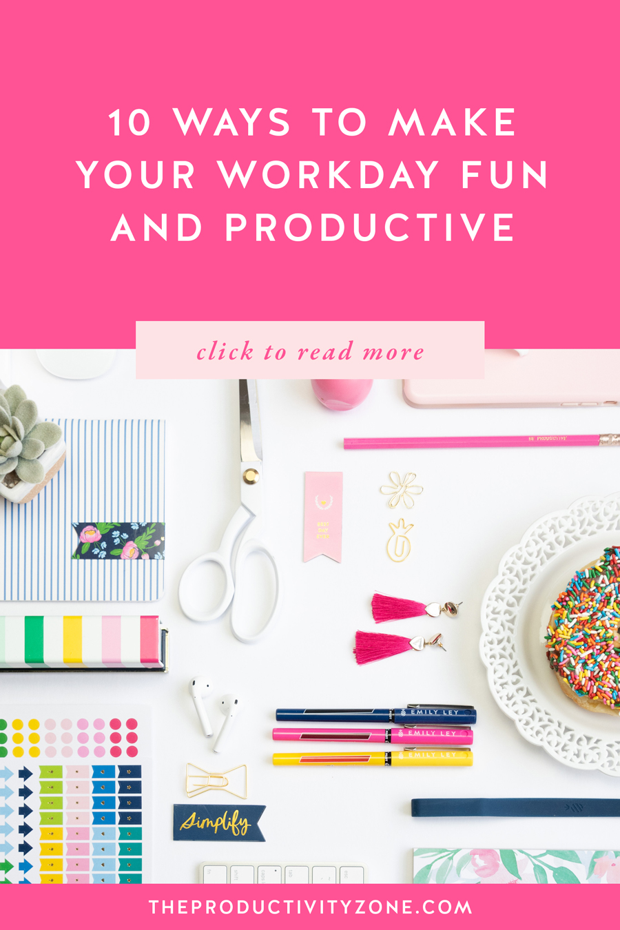 Because some work tasks will (probably always) feel like a job… Check out 10 super simple ways to make your workday fun AND productive on The Productivity Zone!!