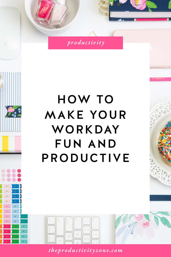In every job that must be done, there is an element of fun!! Think you can't have fun AND be productive while you work?! Mary Poppins and I beg to differ!! I'm sharing 10 things you can do to make your workday a bit more fun while still being insanely productive on The Productivity Zone!!