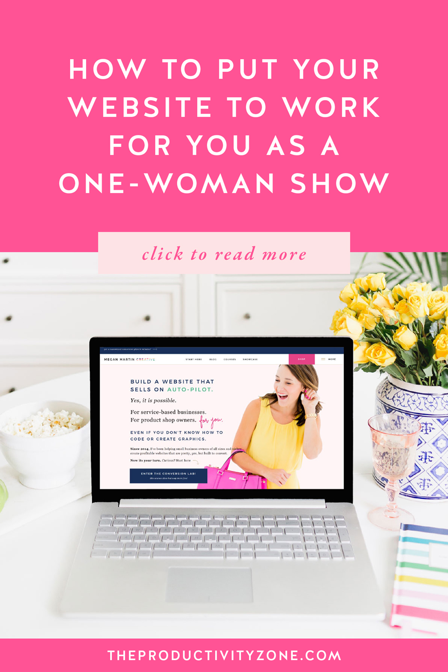 Want to know how to make your website work for and actually grow your business for you?! Megan Martin Creative shares 5 things you can do right now, this week to turn your website into a system that works and converts for you on autopilot!!