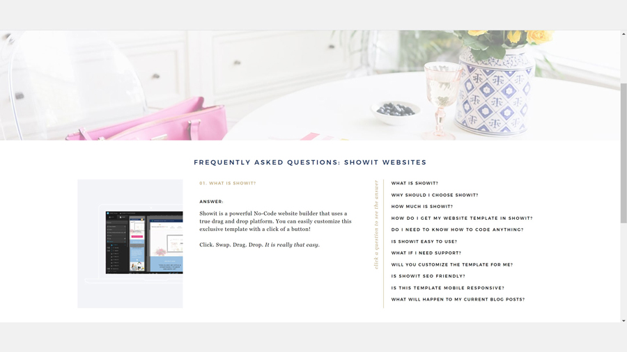 To write reassuring frequently asked questions… start with what people actually frequently ask you about what you do and sell! More tips from Megan Martin Creative on how to put your website to work for you on The Productivity Zone!!
