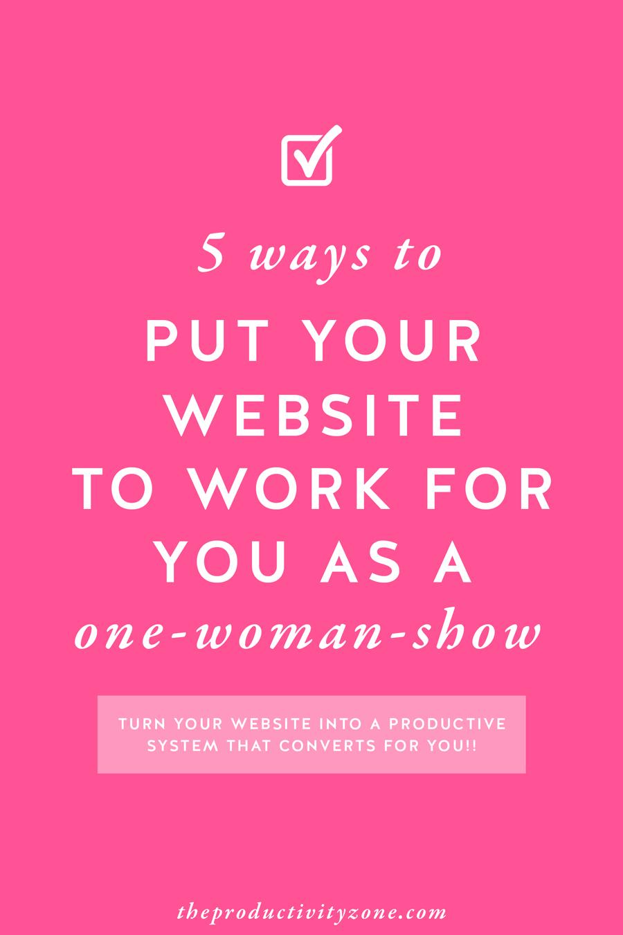 Turn your website into a conversion machine with Megan Martin Creative's tips for putting your website to work for you as a one-woman-show!!