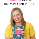 Alexandra of The Productivity Zone showing off a daily Navy Blooms Simplified Planner