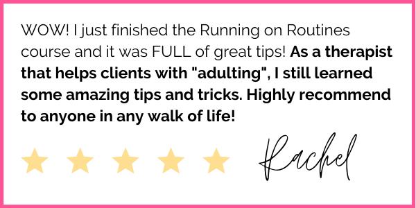 5-Star Running on Routines Testimonial from Rachel