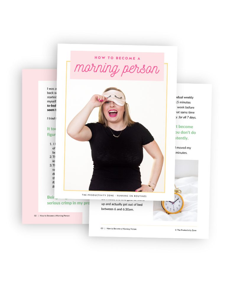 How to Become a Morning Person pdf guide page mockup.