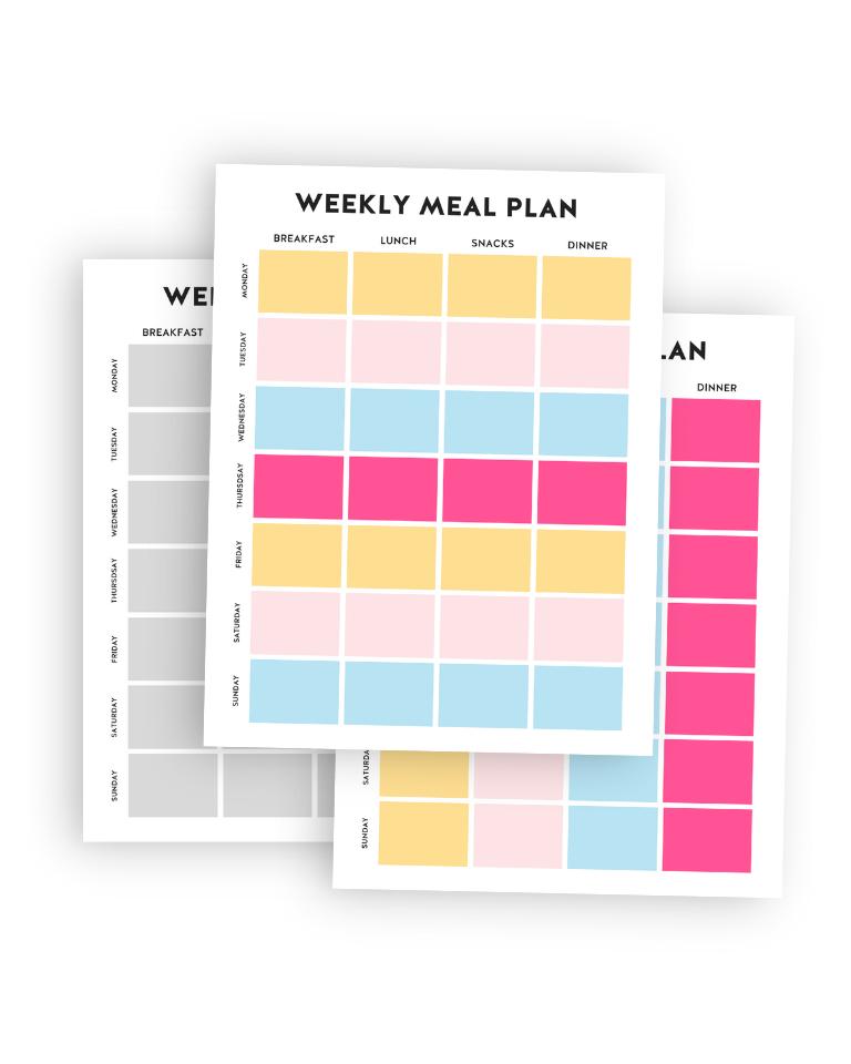 Weekly Meal Plan printable page mockup.